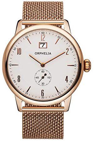 ORPHELIA Armbandsur för män vintage analog kvarts rostfritt stål armband Rödguld