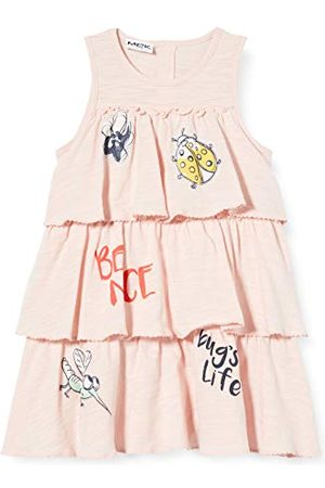 MEK Baby Girls' Abito Jer.slub Con Rouches + couloutte F.sia klänning