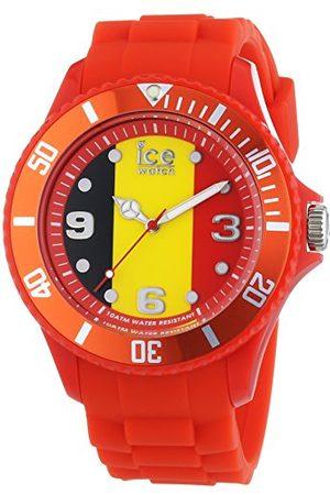 Ice-Watch – Ice World Belgium – röd herrklocka med silikonarmband bälte Large Rot/Mehrfarbig