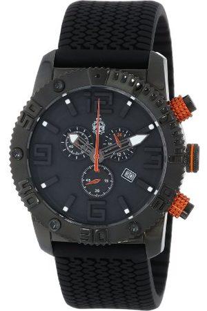 Burgmeister Kvartsklocka för män med urtavla kronograf display och silikonrem BM521-622B