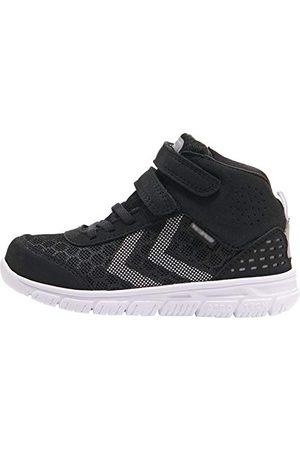 Hummel Unisex barn Crosslite Mid Tex Jr Sneaker, svart36 EU