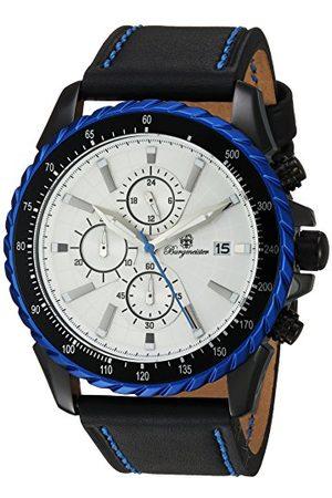 Burgmeister Kvartsklocka för män med urtavla analog display och läderarmband BMT02-682