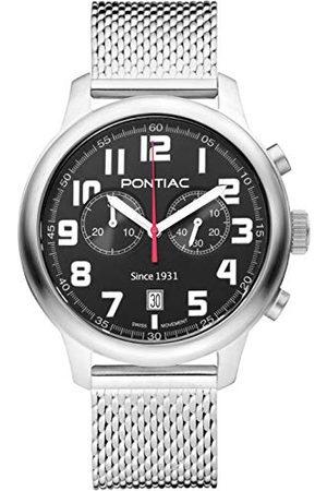 Pontiac Herr kronograf schweizisk kvartsklocka med rostfritt stålrem P40011M