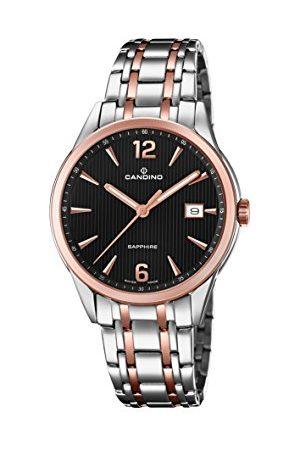 Candino Herr datum klassisk kvartsklocka med rostfritt stål armband C4616/3