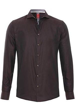 Pure Herr 4034-758 City Red långärmad klassisk skjorta, uni ljusblå, XL