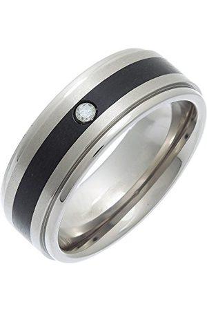 THEIA Titan och emalj inlägg platt bana 0,05 ct diamant matt 8 mm ring e Titan, S, colore: Metallisk, cod. TI5620-8/S