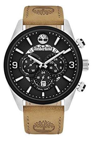 Timberland Herr analog kvartsklocka med läderkalvläder armband TBL16014JSTB.02