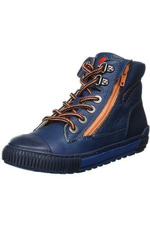 Kickers Pojke pirlzip sneaker, Bleu Marine Orange33 EU