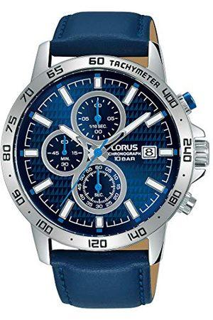 Lorus Herr analog kvartsklocka med äkta läderarmband RM307GX9