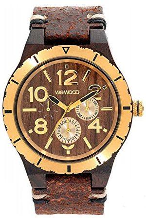 WeWood Herr analog kvarts smartklocka armbandsur med läderarmband WW59001