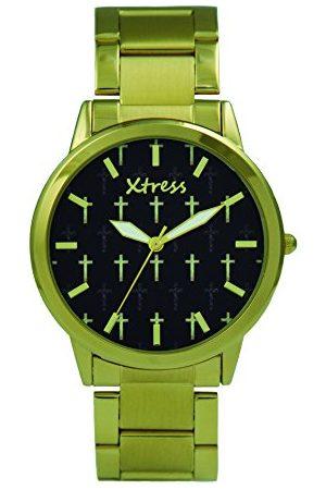 XTRESS Herr analog kvartsklocka med rostfritt stål armband XPA1033-01