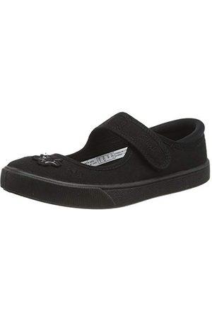 Clarks School Clarks Skola Dam Hopper Go Kid uniform klänning sko, Svart12 UK Child