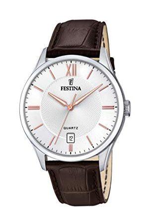 Festina Herr analog kvartsklocka med läderarmband F20426/4