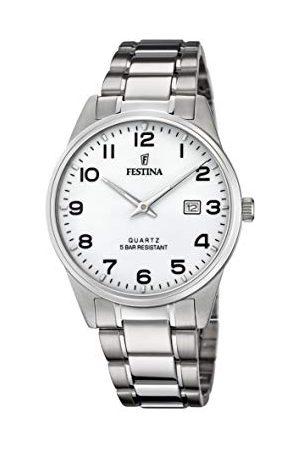 Festina Herr analog kvartsklocka med rostfritt stål armband F20511/1