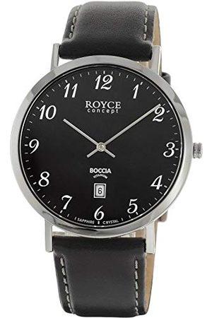 Boccia Herr kronograf kvartsur med läderrem 3634-02