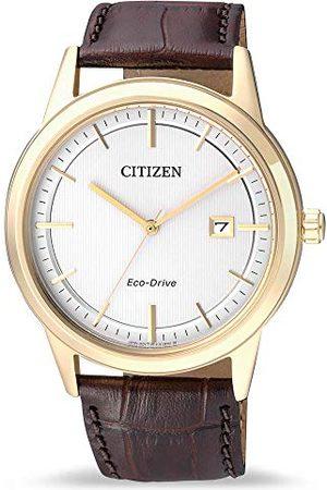 Citizen Mäns analog kvarts klocka med läder armband AW1233-01A