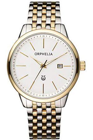 ORPHELIA Herrarmbandsur Lifetime Analog kvarts rostfritt stål bälte Weiß