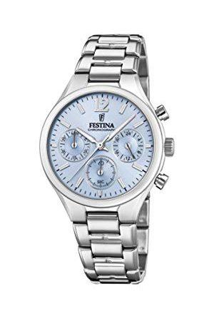 Festina Dam kronograf kvartsur med rostfritt stål armband F20391/3