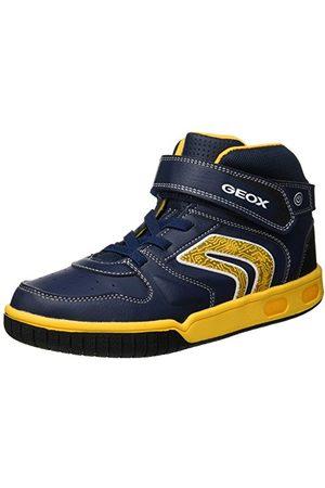 Geox Pojkar Jr Gregg B hög sneaker, marinblå C4054-31 EU