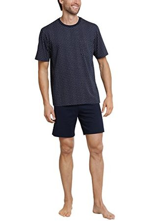 Schiesser Mäns komfort passform sovplagg kort pyjamas set