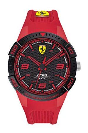 Scuderia Ferrari Analog kvartsklocka för män med silikonrem 0830748
