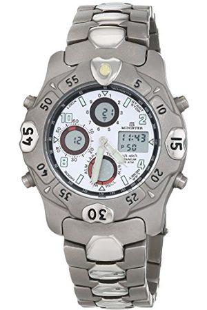 Minister Herr kronograf kvartsur med rostfritt stål armband 6962