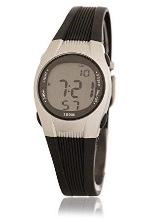Dunlop Unisex vuxna digital kvartsklocka med gummiarmband DUN147L01
