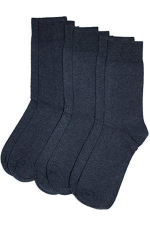 Camano Unisex 3-pack strumpor med mjuk kant för vuxna strumpor av bomull