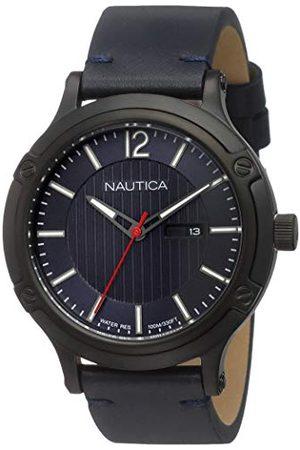 Nautica Herr analog kvartsklocka med läderarmband NAPPRH017