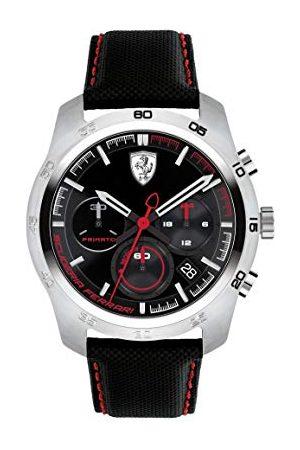 Scuderia Ferrari Herr kronograf kvartsklocka med läderrem 0830444