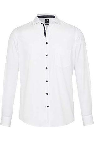 Pure Herr 3592-422 City Black lång ärm klassisk skjorta, uni mellanblå, L