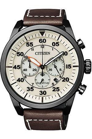 Citizen Herr kronograf kvartsur med läderarmband CA4215–04W