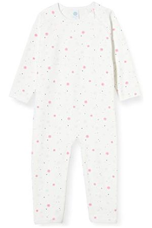Sanetta Baby-flicka trasig stor overall i off white vinter snöflinga overall