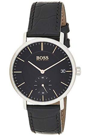 HUGO BOSS Herrar analog kvarts klocka med läder armband 1513638