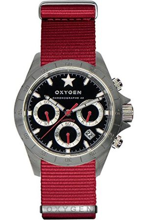 Oxygen Unisex-armbandsur SPRINT 42 kronograf kvarts nylon EX-C-SPR-42-NN-RE