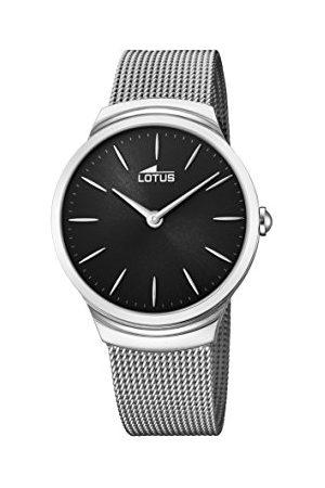 Lotus Lotus klockor herr analog klassisk kvartsklocka med rostfritt stålrem 18493/3