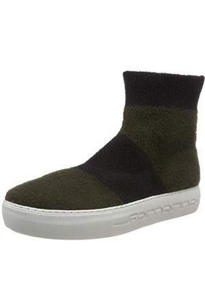 Fornarina Dam Yuma4 hög sneaker, Yuma4 Kaki Black38 EU