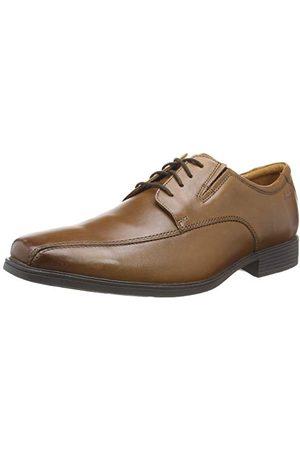 Clarks Herr Tilden Walk Oxford platt, mörk Tan Lea, 10 UK bred