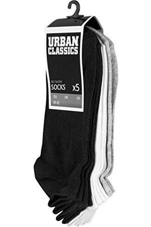 Urban classics Herr No Show 5-pack strumpor, blk/wht/Gry, 47-50