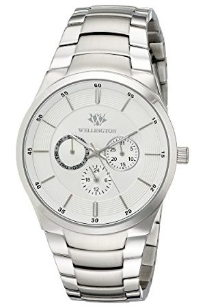 Daniel Wellington Kvartsklocka för män med urtavla analog display och rostfritt stål armband WN601-111