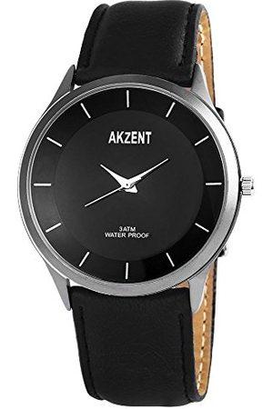 Akzent Herr analog kvartsklocka med olika material armband SS7571000015