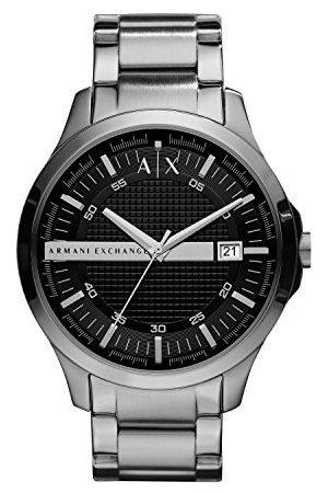 Armani Mäns analog kvarts klocka med rostfritt stål armband AX2103
