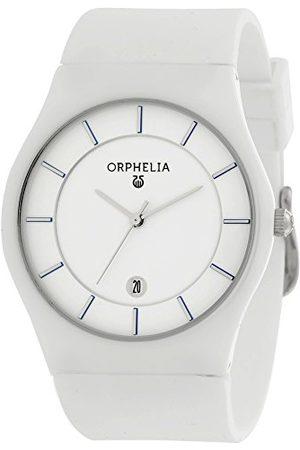 ORPHELIA Herr- keramik armbandsur Infinity analog kvarts silikon bälte Weiß