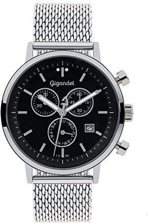 Gigandet Classico herrklocka kronograf kvarts analog med metallarmband G6-012