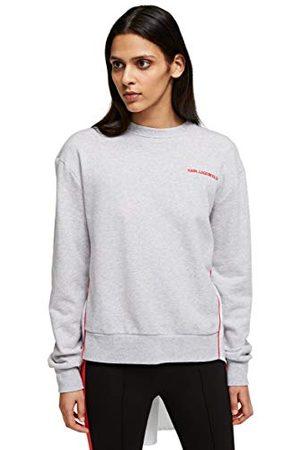 Karl Lagerfeld Damer tyg mix sweat W/pleats sweatshirt