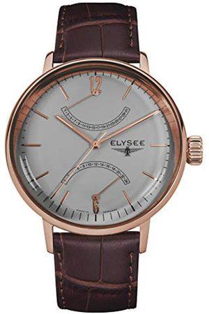 ELYSEE Unisex vuxna analog kvartsklocka med läderarmband 13290