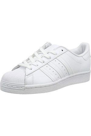 adidas Unisex barn Superstar J sneaker, Bianco, 38 2/3 EU, vit38 2/3 EU