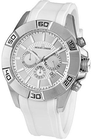Jacques Lemans Herr analog kvarts smart klocka armbandsur med silikonarmband 1–1808B