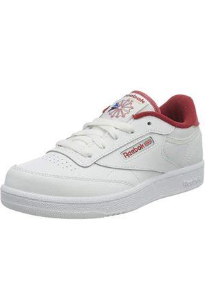 Reebok Unisex barnklubb C 85 sneaker, White Mars Red White32.5 EU