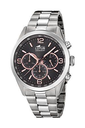 Lotus Herrar analog kvarts klocka med rostfritt stål armband 18152/8